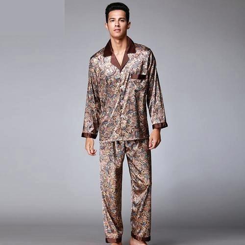 Ensemble de pyjama en soie pour hommes